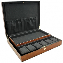 Twelve Watch Display Box Orbita Zurigo W80012 in Burl Wood