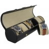 Five Watch Travel Roll Box Orbita Verona W92015 in Black Leather
