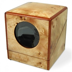 Orbita Privee Programmable 1 Watch Winder W03025 in Poplar Burl