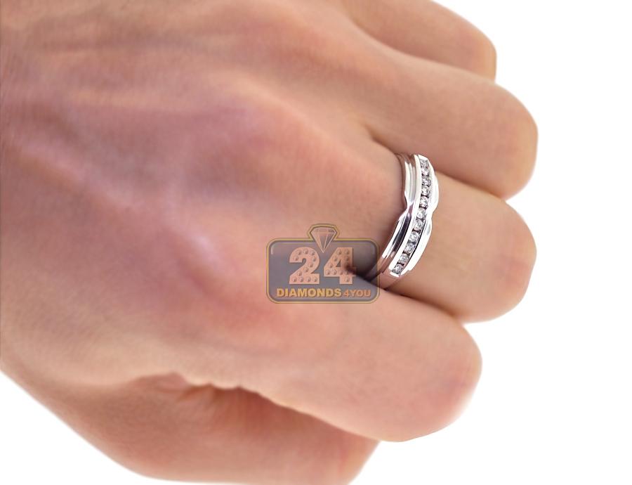 Bride Groom Diamond Wedding 3Ring Set 14K White Gold 134 ct