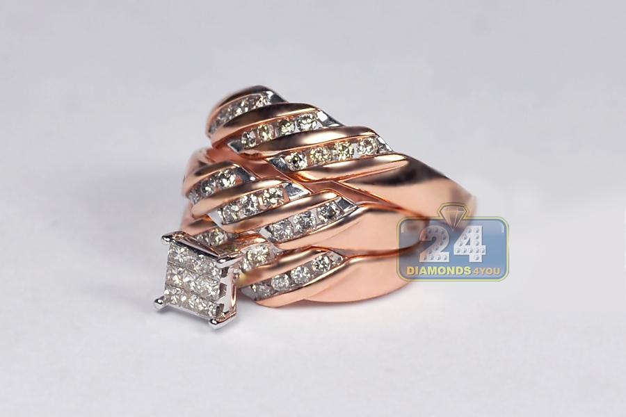 his hers matching wedding rings set 14k gold
