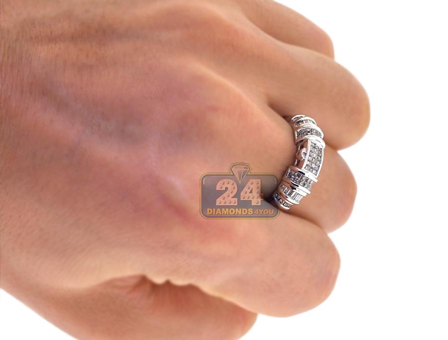 Womens Mens Diamond Wedding 3 Rings Set 14k White Gold 2 63ct