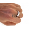 10K White Gold 0.70 ct Diamond Bride Groom Wedding 3-Ring Set