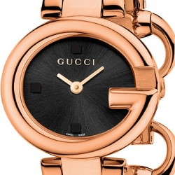 Gucci Guccissima Rose Gold PVD Bangle Womens Watch YA134509