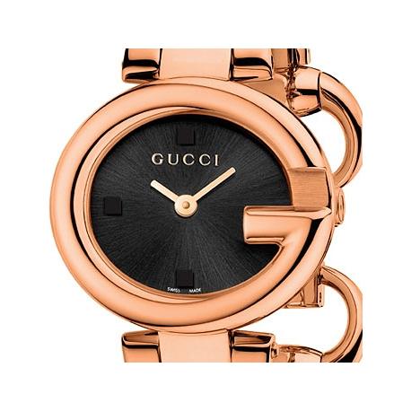 e58bfe25771 Gucci Guccissima Rose Gold PVD Bangle Womens Watch YA134509