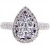 14K Yellow Gold 1.33 ct Diamond Womens Pear Shaped Ring