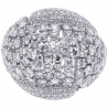 18K White Gold 4.03 ct Diamond Womens Dome Ring