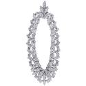 18K White Gold 4.13 ct Diamond Womens Floral Pendant