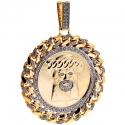 10K Yellow Gold 2.75 ct Diamond Jesus Christ Mens Pendant