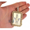 10K Yellow Gold 1.81 ct Diamond Frame Angel Mens Pendant