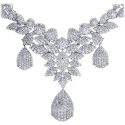 18K White Gold 15.53 ct Diamond Womens Necklace 18 Inches