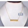 """Solid 18K Yellow Gold Engravable ID Name Womens Necklace 18"""""""