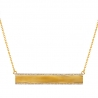 """Womens Diamond ID Name Bar Necklace 18K Yellow Gold 0.45ct 18"""""""