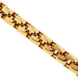 14K Yellow Gold Box Diamond Cut Link Womens Chain 1.5 mm