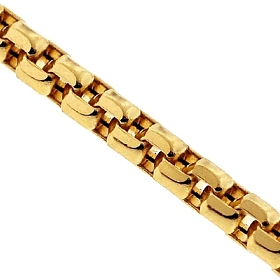 14k Yellow Gold Box Diamond Cut Link Womens Chain 1 5 Mm