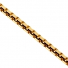 10K Yellow Gold Square Box Solid Link Womens Chain 0.5 mm