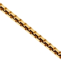 14K Yellow Gold Solid Square Box Link Mens Chain 1.8 mm