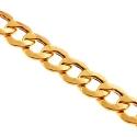 10K Yellow Gold Flat Cuban Hollow Link Mens Chain 8.5 mm