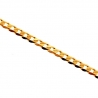 10K Yellow Gold Flat Cuban Solid Link Womens Chain 2.5 mm