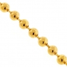 Italian 10K Yellow Gold Diamond Cut Bead Mens Army Chain 3 mm