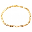 10K Yellow Gold Figaro Link Mens Bracelet 4 mm 8 Inches