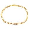 "Real Italian 10K Yellow Gold Figaro Link Mens Bracelet 4mm 8"""