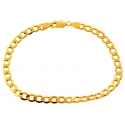 10K Yellow Gold Flat Cuban Link Mens Bracelet 5 mm 8 Inches