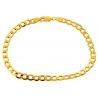 Italian 10K Yellow Gold Flat Cuban Link Mens Bracelet 5mm 8""
