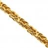 Italian 10K Yellow Gold Classic Byzantine Link Mens Chain 5.5 mm