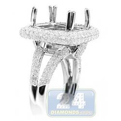 14K White Gold 1.76 ct Diamond Semi Mount Setting Ring