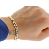 "Real 10K Yellow Gold Cuban Diamond Cut Link Mens Bracelet 6mm 9"""