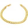 "10K Yellow Gold Flat Cuban Diamond Cut Mens Bracelet 7mm 8.5"""