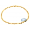 Real 10K Yellow Gold Flat Mariner Anchor Mens Bracelet 3mm 8""