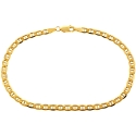 10K Yellow Gold Anchor Link Mens Bracelet 4 mm 8 1/2 Inches