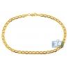 "10K Yellow Gold Flat Mariner Anchor Link Mens Bracelet 4mm 8.5"""