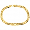 Real 10K Yellow Gold Mariner Anchor Link Mens Bracelet 6mm 8.5""