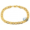 10K Yellow Gold Anchor Link Mens Bracelet 7 mm 8.5 Inches