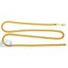 Italian 10K Yellow Gold Hollow Franco Link Mens Chain 3.5 mm