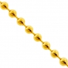 Real Italian 10K Yellow Gold Smooth Bead Mens Army Chain 3mm