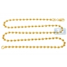 Italian 10K Yellow Gold Smooth Bead Ball Mens Army Chain 5 mm