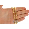 Italian 10K Yellow Gold Smooth Bead Ball Mens Army Chain 5 mm