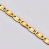 Italian 14K Three Tone Gold Mariner Link Womens Chain 3 mm