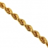 Italian 10K Yellow Gold Solid Rope Mens Chain 2.5mm 18 20 22 24""