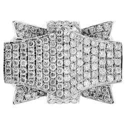 14K White Gold 3.64 ct Diamond Mens Pike Ring