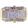 14K Yellow Gold 1.07 ct Diamond Mens Signet Ring
