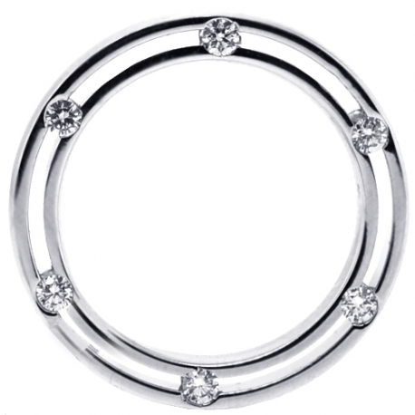 18K White Gold 0.50 ct Diamonds on Sides Womens Eternity Ring