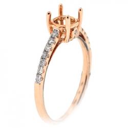 14K Rose Gold 0.25 ct Diamond Semi Mount Engagement Ring