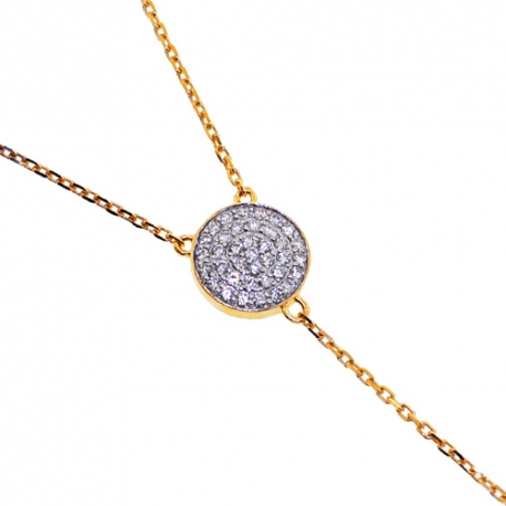 """Womens Diamond Lariat Y Shape Necklace 14K Yellow Gold 0.48ct 18"""""""