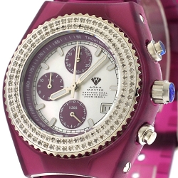 Aqua Master Sport 1.00 ct Diamond Womens Purple Watch