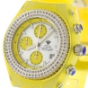 Womens Diamond Yellow Watch Aqua Master Sport Plastic 1.00 ct